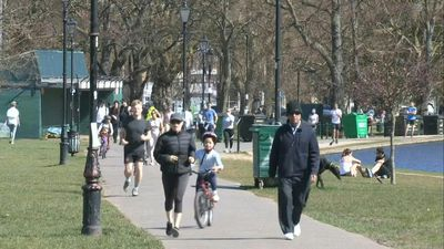 Coronavirus: people congregate in London park on warm weekend despite lockdown