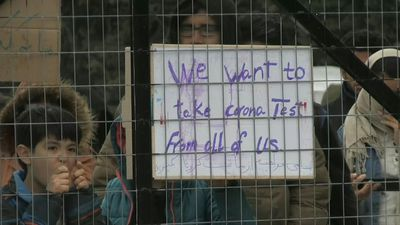 Coronavirus/Greece: migrants protest at camp under virus lockdown