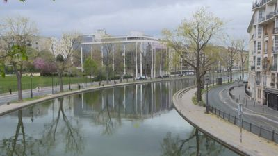 Coronavirus: Paris' Canal Saint-Martin deserted on 21st day of lockdown