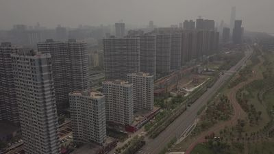 Wuhan: Aerials as China prepares to lift coronavirus lockdown