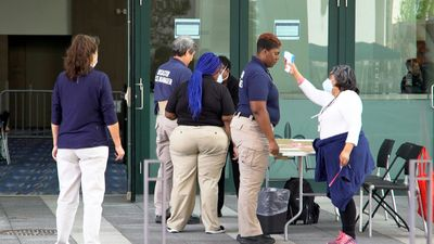 Coronavirus: field hospital opens in convention centre in New Orleans
