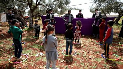 Coronavirus: NGO performs awareness play for displaced Syrian children