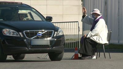 Drive-through confessional in Poland during coronavirus outbreak