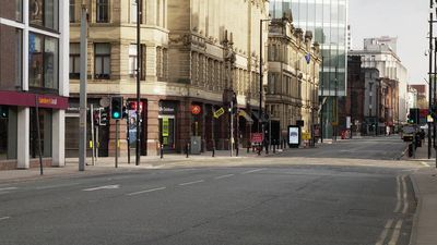 Coronavirus: deserted streets in Manchester as UK lockdown continues