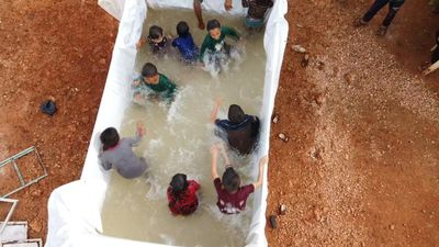 Daily life in Syria displacement camp ahead of Eid al-Fitr feast