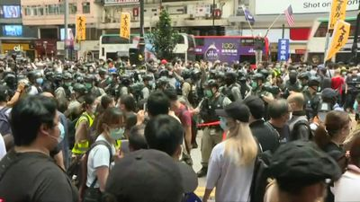 Hundreds at Hong Kong protest after China security law plan