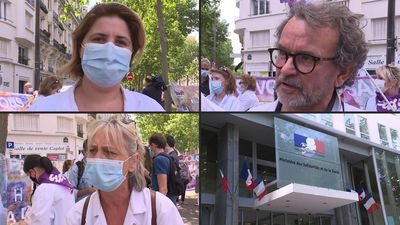 French health workers protest as ministers discuss hospital reforms