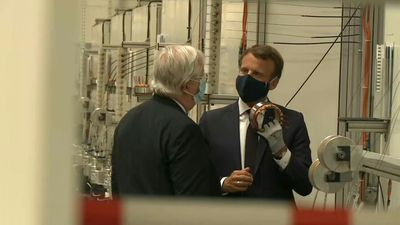 Macron visits car factory as France unveils plan to save auto industry