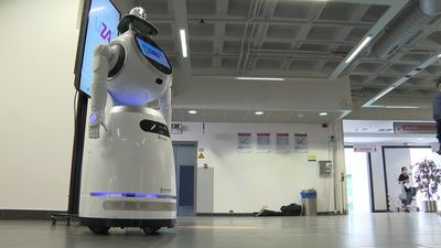 COVID-19: Robot screens visitors entering Belgian hospital