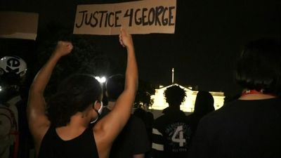 Protests at White House over George Floyd's death in police custody