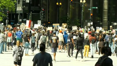Anti-racism protest in Chicago in the wake of George Floyd's death