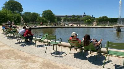 Visitors return to the Tuileries as the iconic Paris garden reopens