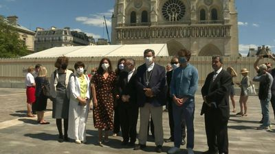 Paris Mayor welcomes reopening of square in front of Notre Dame cathedral