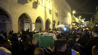 Funeral of Palestinian killed after Israeli police thought he was armed