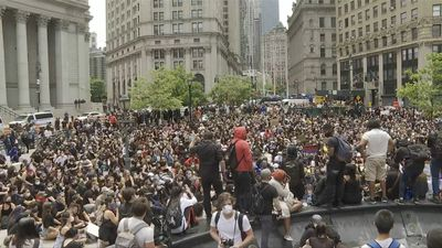 Peaceful Black Lives Matter rally in Foley Square over death of George Floyd
