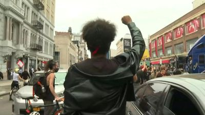Black Lives Matter protesters march through the streets of New York