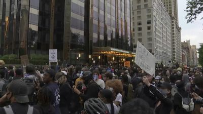 Protesters gather in New York against police brutality, institutional racism