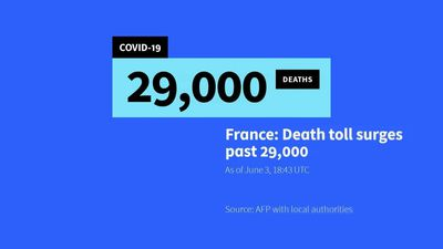 More than 29,000 coronavirus deaths recorded in France: AFP tally