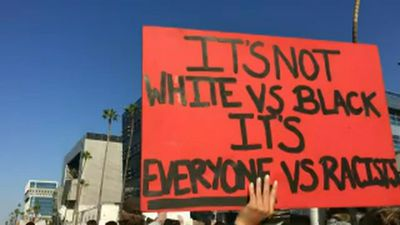 Black Lives Matter protest calls for justice in LA