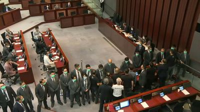 Hong Kong legislature votes for law banning national anthem insults