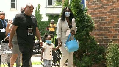 George Floyd's family arrives at memorial service in Minneapolis
