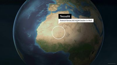 Map: French forces kill Al-Qaeda leader in the Islamic Maghreb in Mali