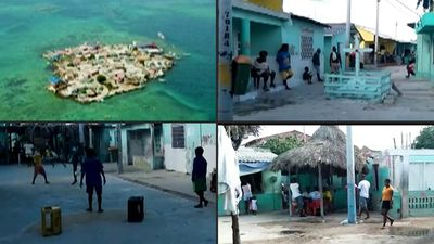 Lockdown and social distancing on Colombia's most overcrowded island