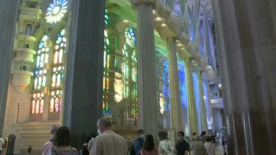 Barcelona's Sagrada Familia reopens for health workers