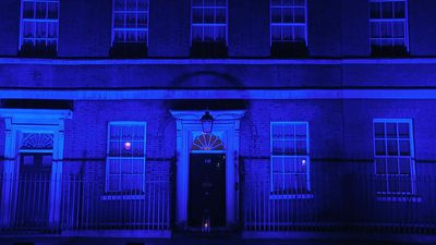 London landmarks go blue for the 72nd anniversary of the NHS