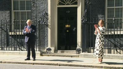 British prime minister and Clap for Carers founder clap for the NHS