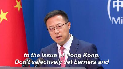 China: 'Don't politicise' Hong Kong security law