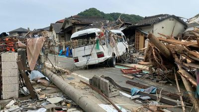 Japanese village devastated following heavy rain