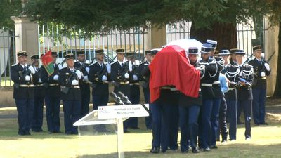 Military tribute for gendarme killed by hit and run driver