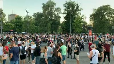 Serbians protest against the government's handling of the pandemic