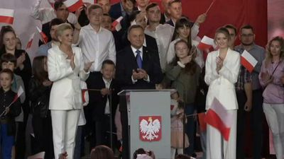 Polish president ahead by tiny margin in run-off: exit poll