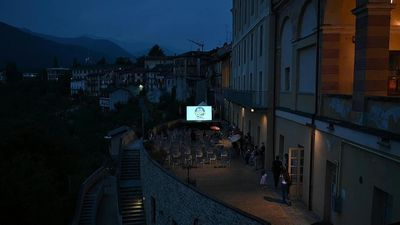 Camper van cinema brings big screen to remote villages in Italy's Cuneo