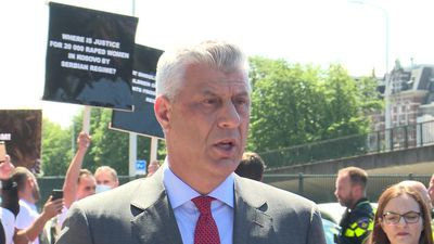 "Kosovo President Hashim Thaci says ""nobody can rewrite their history"""