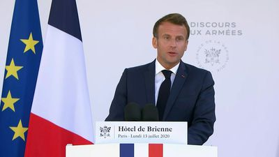 Macron addresses military community ahead of Bastille Day