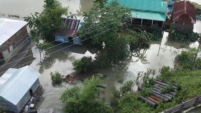 Third of Bangladesh underwater as monsoon drenches region