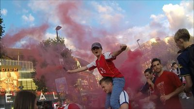 Arsenal fans jubilant after FA Cup win over Chelsea