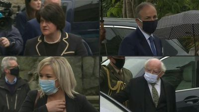 Politicians arrive for John Hume's funeral