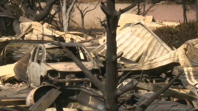Fire ravages campsite near Marseille