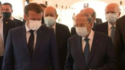 France's Macron arrives in Lebanon after deadly blast