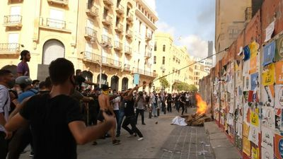Furious Lebanese take to the streets after deadly blast