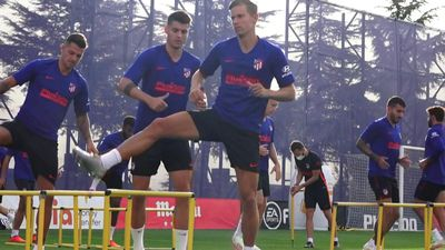 Football/Champions League: Atletico Madrid train ahead of Lisbon quarter-final