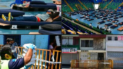 Costa Rica turns sports arena into homeless shelter during pandemic