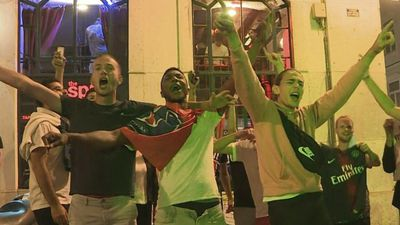 Champions League: PSG fans celebrate victory in Lisbon