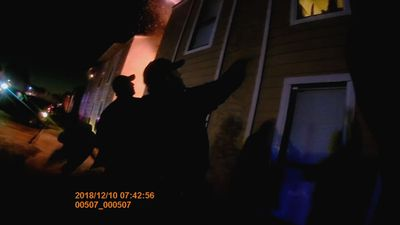 Video: Officers catch Texas boy jumping from fire