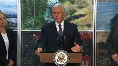 Pence vows administration will continue wall push