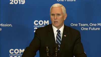 Pence claims IS 'caliphate has crumbled' in Syria